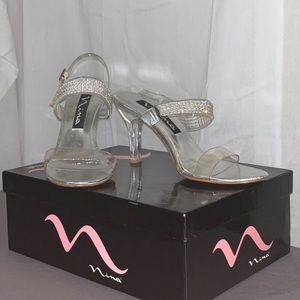 Nina Size 7 1/2 Glass Stiletto
